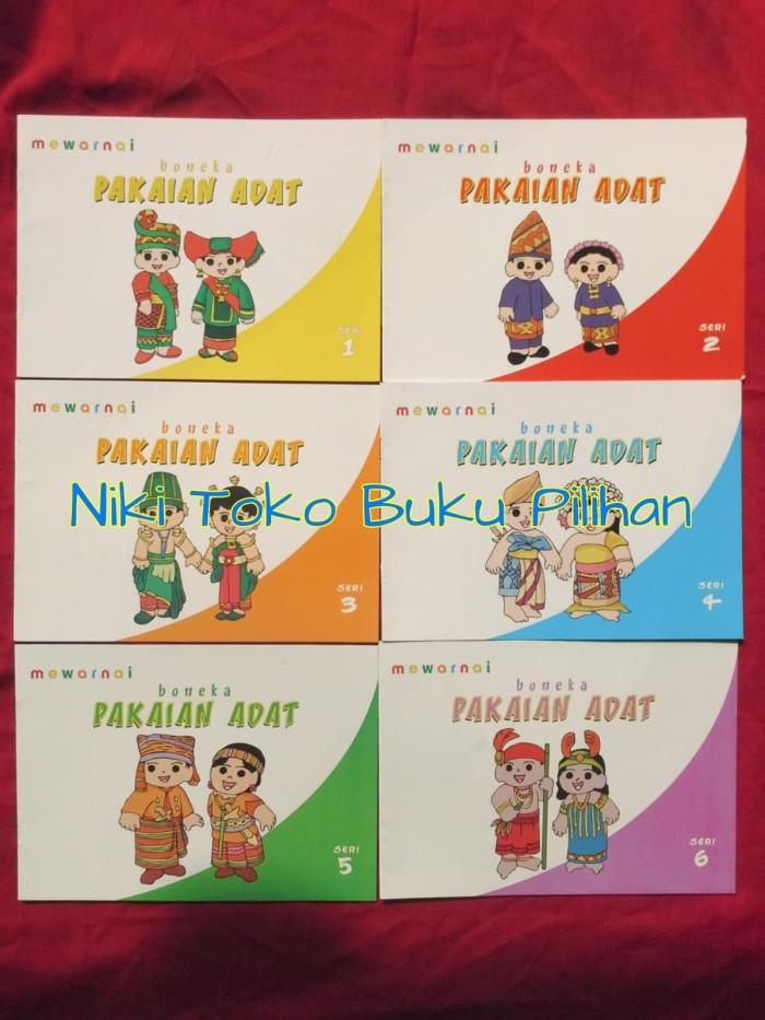 Mewarnai Pakaian Adat : mewarnai, pakaian, Mewarnai, Boneka, Pakaian, Jakarta, Barat, Pilihan, Tokopedia