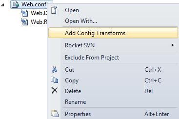 Add Config Transforms