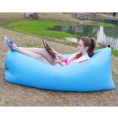 Air Bag Chair Grey And White Banana Bed Lounger Fast Inflatable S Tophatter 1 5
