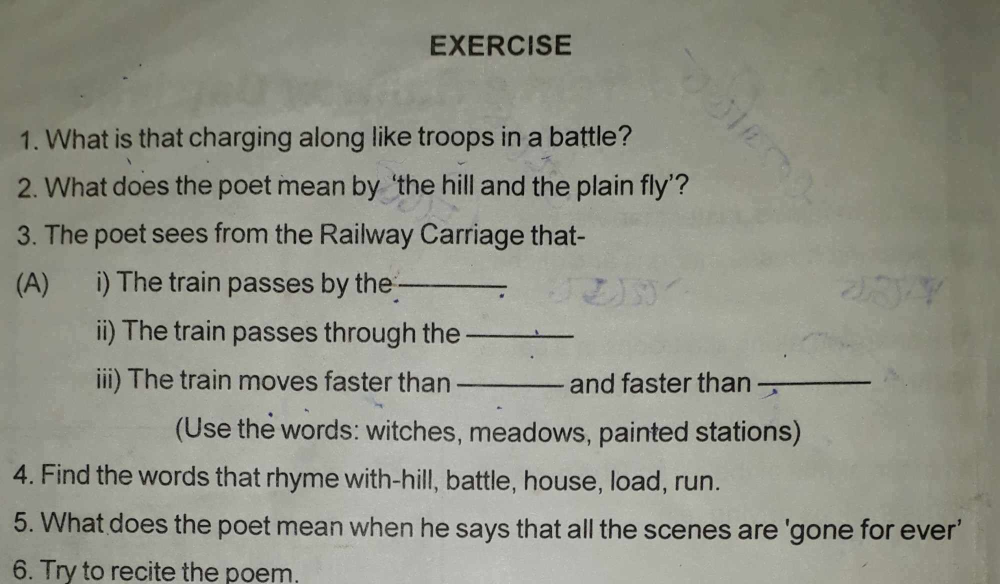 hight resolution of please give me the answer the poem name is the world from a railway  carriage 2hbew344 -English - TopperLearning.com