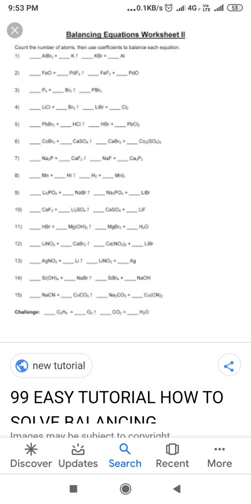 small resolution of write the steps involved in a writing a chemical equations - Chemistry -  TopperLearning.com   rjk34mss