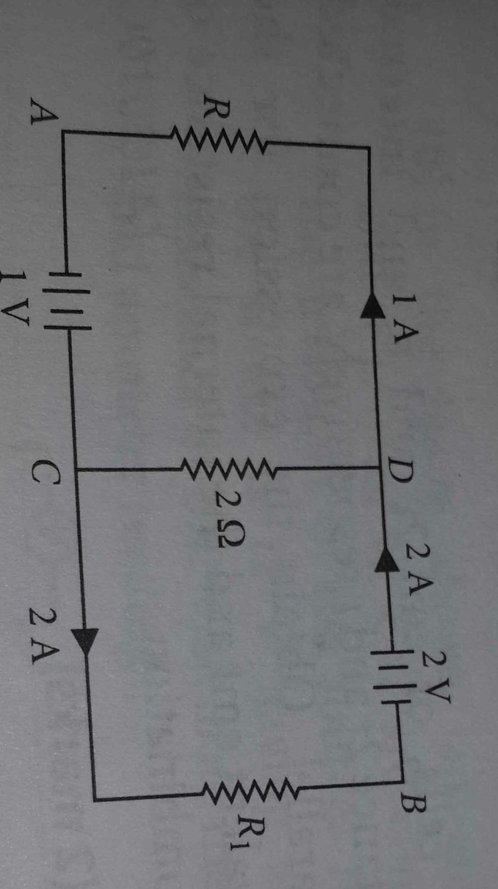 medium resolution of in the given circuit assuming point a to be at zero potential use kirchhoff rule to determine the potential at b
