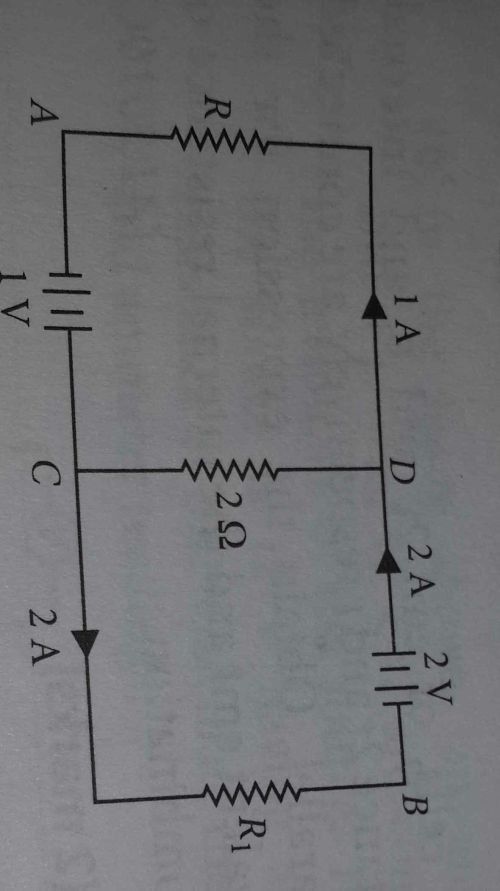 small resolution of in the given circuit assuming point a to be at zero potential use kirchhoff rule to determine the potential at b