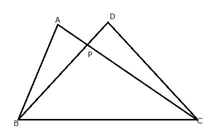 two right triangles abc and dbc are drawn on the same side