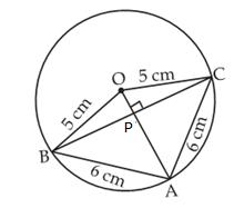 in a circle of radius 5 cm ab and ac are two chords such