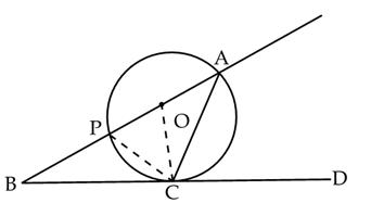 in the figure o is the centre of a circle and bcd is