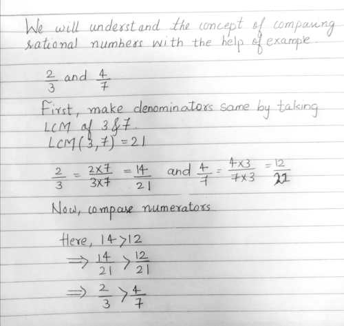 small resolution of how to compare the pairs of rational numbers lbh7fq44 - - TopperLearning.com