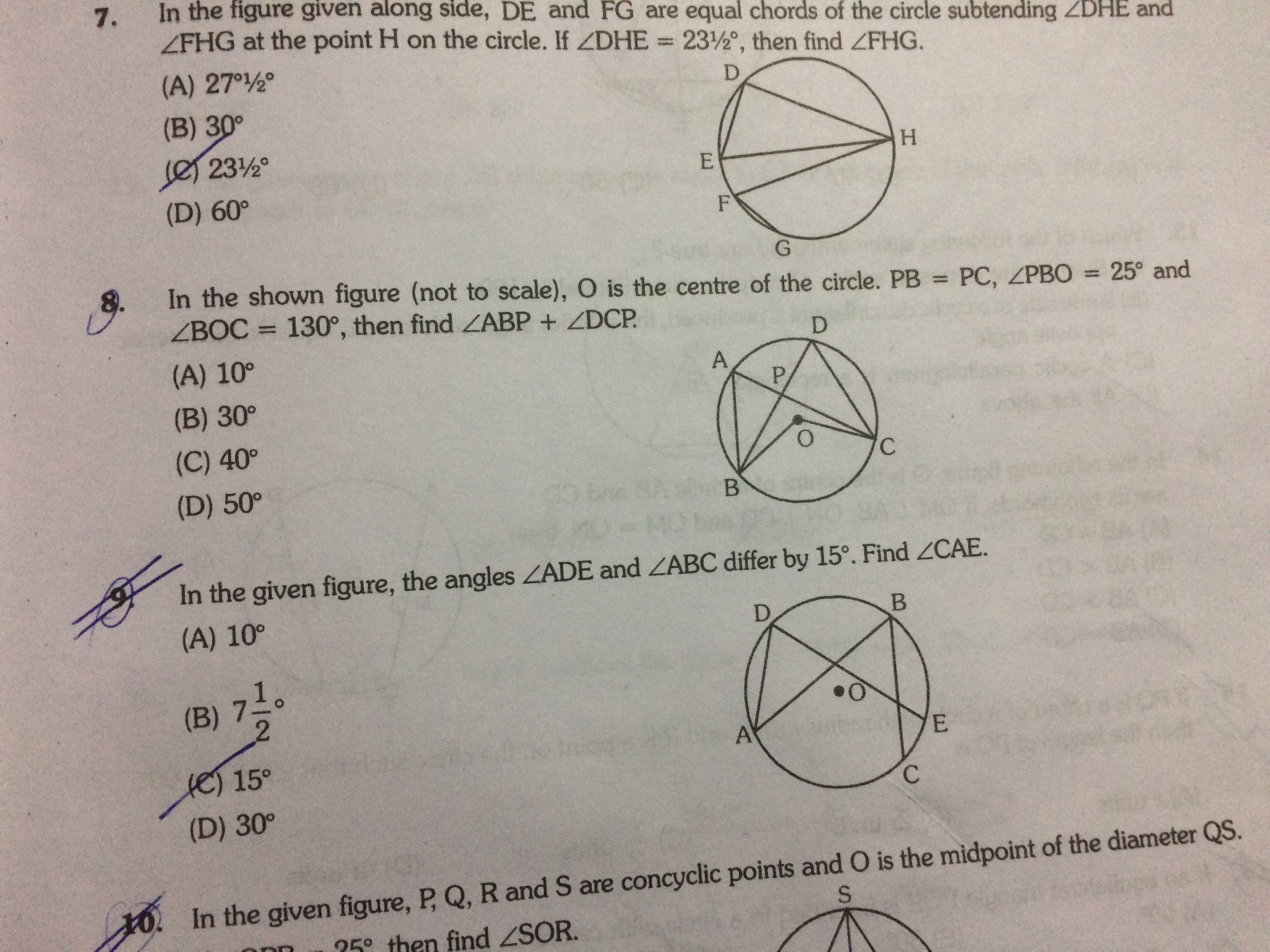 Circle Questions And Answers