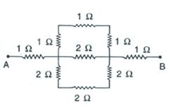 calculate the effective resistance between the points a