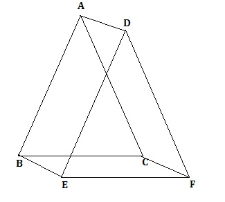 triangle abc and triangle def are two triangles such that