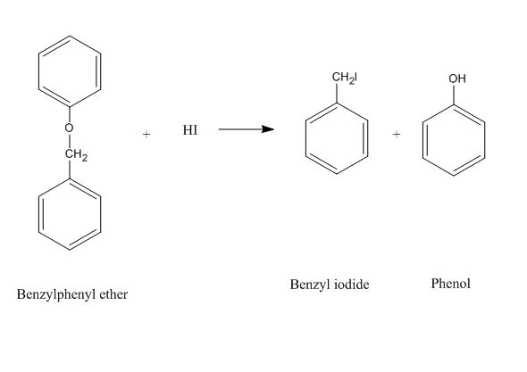the products formed when benzyl phenyl ether is heated