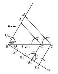 i construct a triangle abc where bc 7cm ab 6cm and angle