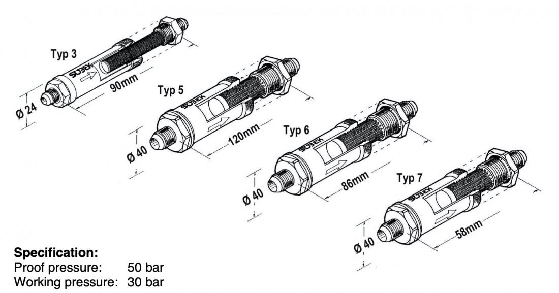 Sobek Motorsport Fuel / Oil Filter Type 3, 5, 6 and 7