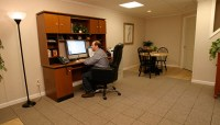 Home Office Ideas: Turning a Finished Basement into a Home ...