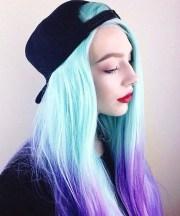minty 17 galaxy hair ideas