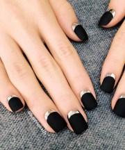 black matte nails 27 cute nail