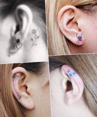 21 Ear Tattoo Ideas for All Your Inkspiration