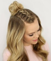 mohawk french braid top knot 25