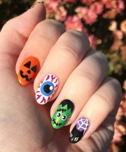 spooky halloween nail art dress
