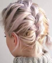 gorgeous braids short hair