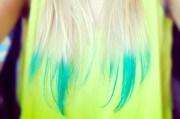 dip-dye tips wear neon
