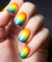 rainbow nails making gradient