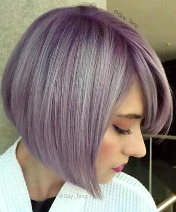Lavender A-Line Haircut