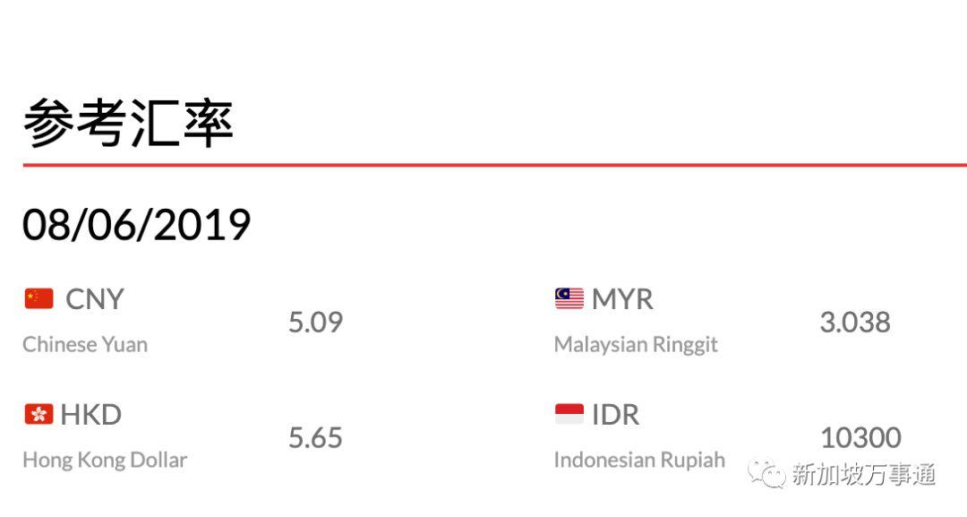 爆!新幣對人民幣匯率要破1:5.1X啦~ - 新加坡新聞頭條