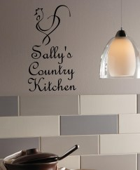 Custom Country Kitchen Wall Decal Item - Trading Phrases