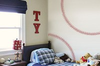Baseball Stitches Wall Decal - Trading Phrases