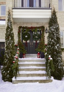 Outdoor Holiday Traditional Home