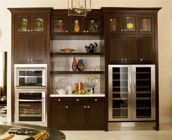 kitchen wood cabinets small kitchens with islands elegant warm traditional home enlarge walnut