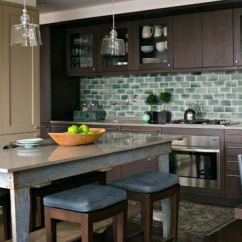Two Tone Kitchen Island Cabinets Fort Myers Beautiful Backsplashes | Traditional Home