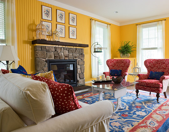 red rug living room ideas provincial furniture colorful rooms traditional home enlarge