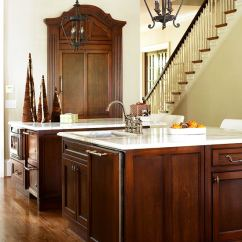 Kitchen Wood Cabinets White Table Elegant Kitchens With Warm Traditional Home Enlarge