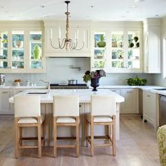 Kitchen Cabinets White Rubbermaid Storage Containers Design Ideas For Kitchens Traditional Home Windows Form The Back Walls Of Glass Doored Allowing Light To Pour In And Illuminate Simple Calacatta Marble Counters A