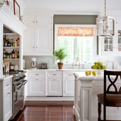 White Appliances Kitchen Mini Pendant Lights For Design Ideas Kitchens Traditional Home Opting Refined And Simple This Is Outfitted With Classic Cabinets Countertops Crafted From Honed Statuary Marble Random Gray