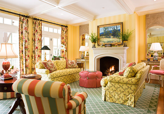 green and red living room beach cottage ideas colorful rooms traditional home in yellow