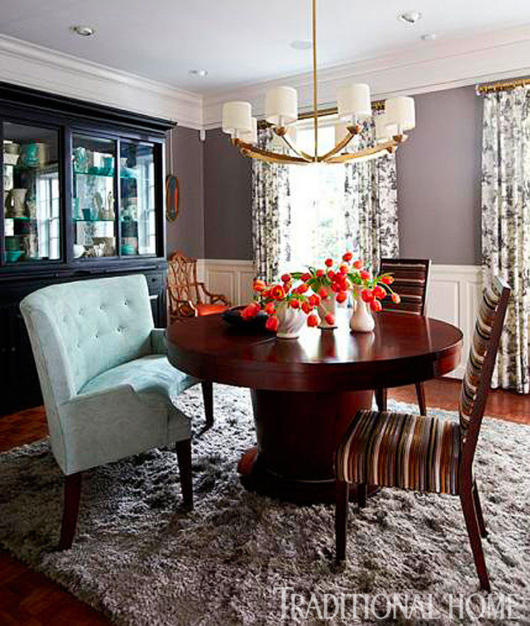 cherry furniture living room sheer curtains for india our best before and after dining rooms traditional home enlarge