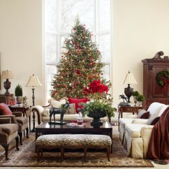 Living Room Tree Black Grey White Decorating Christmas Trees Traditional Home Enlarge