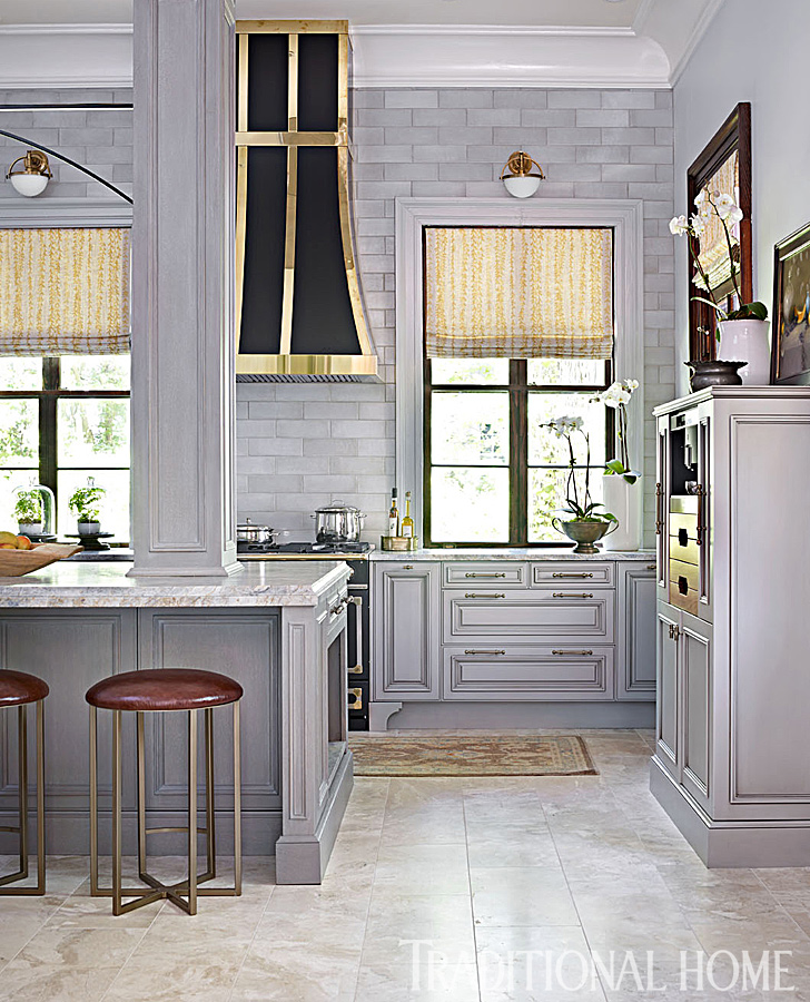 Glamorous Gray Showhouse Kitchen  Traditional Home