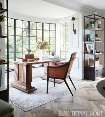 Home Office Design with Bay Window