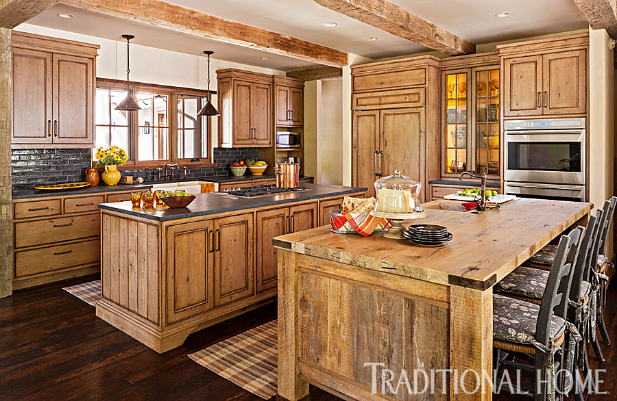 Spacious Rustic Kitchen  Traditional Home