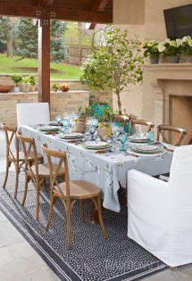 Elegant Outdoor Dinner Traditional Home
