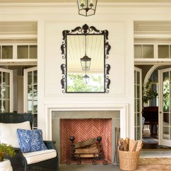 Navy Blue Wingback Chairs High Back Living Room Dutch Colonial Home Rooted In History | Traditional