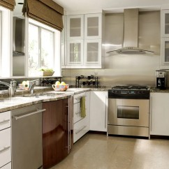 Small Space Kitchen Cabinet Makeovers Beautiful Efficient Kitchens Traditional Home Enlarge