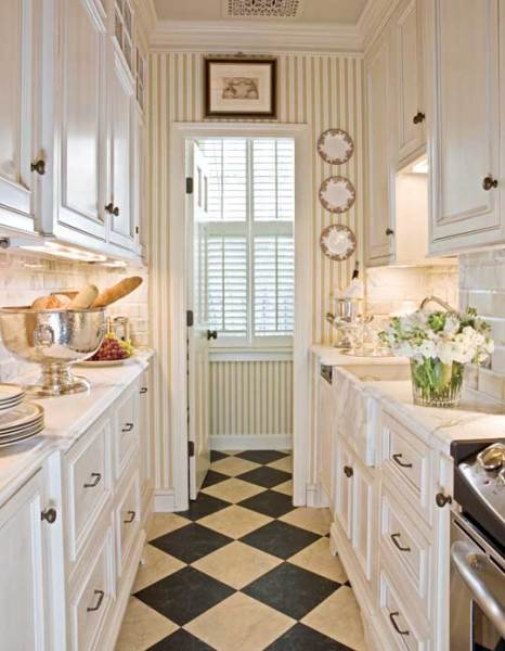 small galley kitchen designs Beautiful, Efficient Small Kitchens   Traditional Home