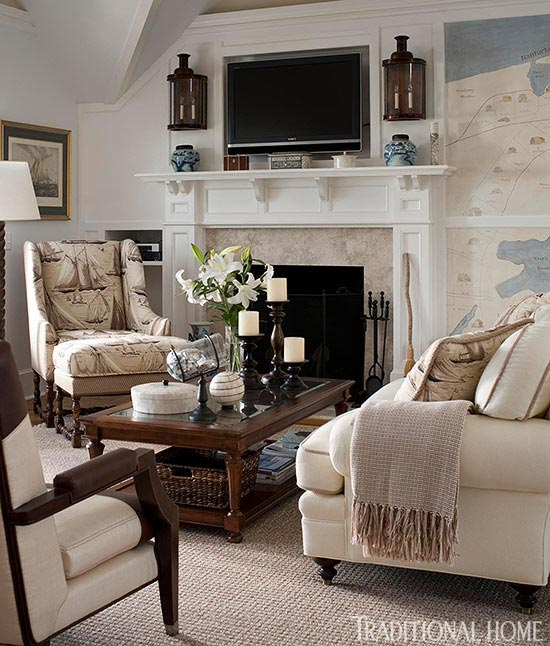 living room mantel ikea wall cabinets get the look classic mantels traditional home enlarge