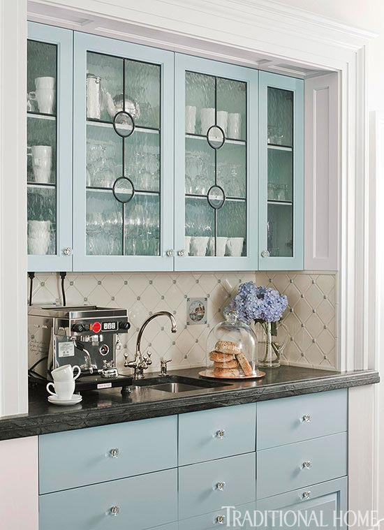 Distinctive Kitchen Cabinets with GlassFront Doors