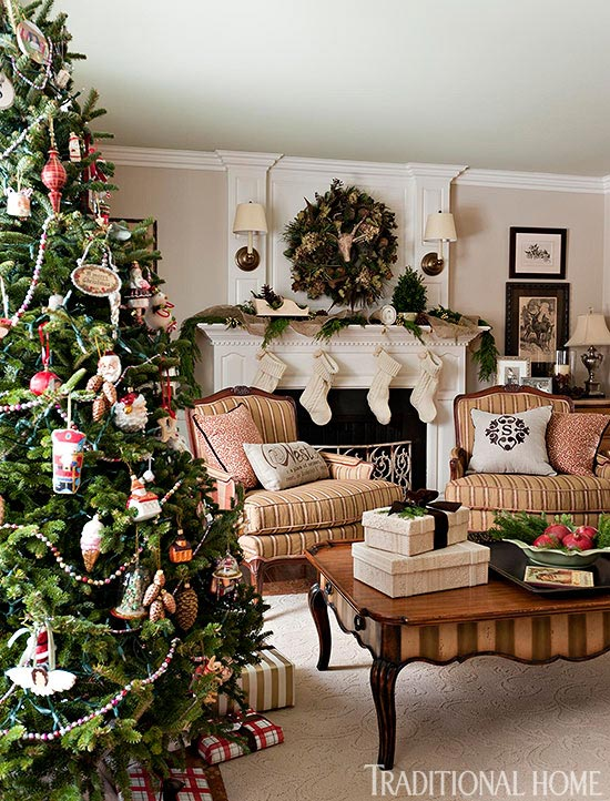 decorate small living room for christmas furnishings decorating trees traditional home enlarge